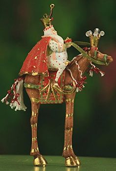 65 Patience Brewster Krinkles Magi Arrives on Horse Christmas Ornament *** Find out more about the great product at the image link.