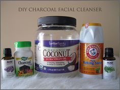 DIY Charcoal Facial Cleanser