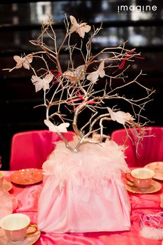 Gold Branch centerpiece