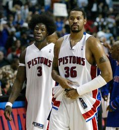 They were 2 of my fav Pistons: Ben and Rashid. Insane Malice at the Palace photos | Sporting News