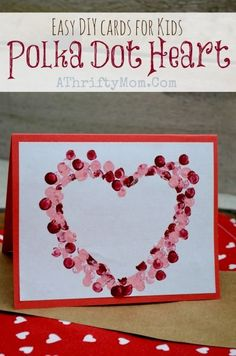 >>>Visit>> Easy DIY Card ideas Polk-a-dot heart Card perfect for Valentines Day Mothers day ideas Kids Craft Ideas Handmade Cards Valentine's Day Crafts For Kids, Valentine Crafts For Kids, Valentines Diy, Valentines Crafts For Kindergarten, Easy Mother's Day Crafts, Christmas Crafts, Valentines Hearts, Valentine Activities, Valentine Wreath