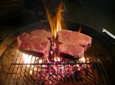 Here are grilling guru Steven Raichlen's 10 steps to grilling the perfect T-bone or porterhouse steak—no matter how thick it is. Grilling Tips, Grilling Recipes, Meat Recipes, Cooking Recipes, Bbq Tips, Outdoor Grilling, Smoker Recipes, Cooking Tips, Grilling The Perfect Steak