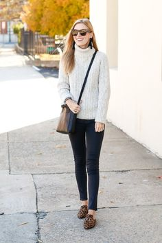 Turtleneck sweater - Black Coated Denim - Madewell Crossbody Bag on Life With Emily #CrossbodyBags Fall Fashion Outfits, Casual Fall Outfits, Fall Fashion Trends, Fall Winter Outfits, Winter Fashion, Casual Clothes, Winter Style, Winter Trends, Black Women Fashion