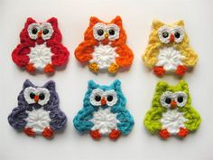 PATTERNCrochet Owl AppliqueDetailed Photos by EverLaughter on Etsy, $5.95