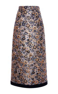 Metallic Jacquard Pencil Skirt by EMANUEL UNGARO for Preorder on Moda Operandi