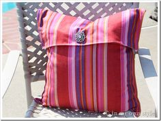 No-Sew-Flap-front-pillow