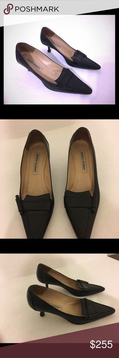 a3a08ba77c3 Manolo Blahnik Kitten Heel shoes These are great for work or casual. I  always get