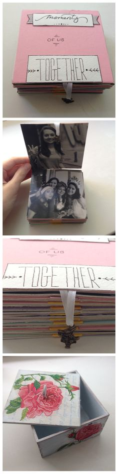 #gift #diy #photo-gift #black&white #decoupage #box #friends #present #happy #moments #farewell This a farewell gift I made for my friend and colleague. B/w pictures of us having fun together. I put the string of the pictures in a nice decoupaged box.
