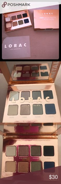 "NEW••LIMITED EDITION••LORAC••ROSE GOLD PALETTE New in box. GORG! 8 Metallic shades that create stunning day/night and ""Hollywood"" looks!! Small palette with a massive amount of shimmer and pigment!!! Limited edition. Always authentic. lorac Makeup Eyeshadow"