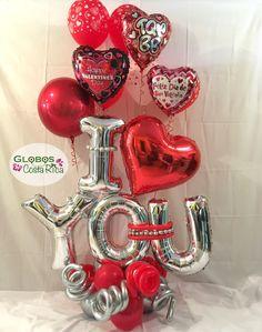Valentines Day Baskets, Valentines Surprise, Valentines Day Decorations, Valentine Gifts, Balloon Centerpieces, Balloon Decorations Party, Balloon Garland, Mothers Day Balloons, Valentines Balloons