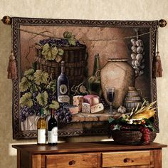 Love this Tuscan-style wall tapestry