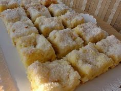 Rychlé šlehačkové řezy Czech Desserts, Sweet Desserts, Sweet Recipes, Dessert Recipes, Lemon Blueberry Cheesecake, Czech Recipes, Sweet Cakes, Something Sweet, Culinary Arts