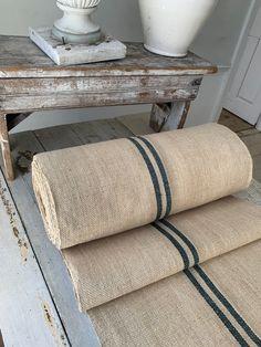 Carpet Staircase, Staircase Runner, Hallway Carpet, Stair Runner Rods, Farmhouse Stairs, Farmhouse Remodel, Sisal Stair Runner, Rustic Table Runners, Carpet Runner