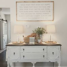 19 Awesome Antique Buffet In Living Room Design Ideas - nuuwihome Farmhouse Buffet, Dining Room Buffet, Farmhouse Furniture, Farmhouse Decor, White Buffet Table, Farmhouse Style, Kitchen Buffet, Antique Farmhouse, Farmhouse Design
