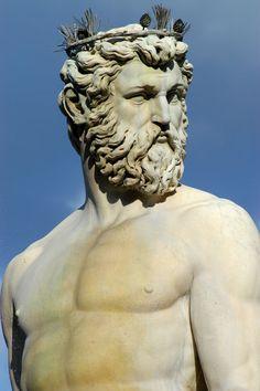 The Neptune Statue in Piazza della Signoria, Florence.