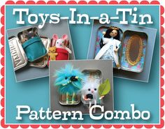 This listing is for three digital project patterns, not the actual toys. Buy the bundle and get a discount! This pattern combo includes three of my
