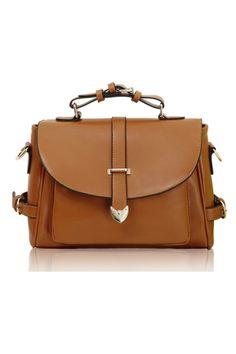 Vintage Leather Look Shoulder Bag OASAP.com