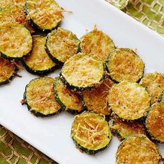 Breaded Zucchini Parmesan Is Fried Until Crispy And Baked In A Casserole Dish With Layers Of Marinara Sauce And Mozzarella Cheese. Zucchini Oven Chips, Zucchini Parmesan Crisps, Zucchini Rounds, Parmesan Squash, Breaded Zucchini, All You Need Is, Dry Bread Crumbs, Crisp Recipe, Food Network Recipes
