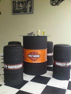 71 Biker Bar, Container Bar, Oil Barrel, Barrel Table, Barrel Furniture, Steel Drum, Cafe Interior, Shop Plans, Upcycled Vintage