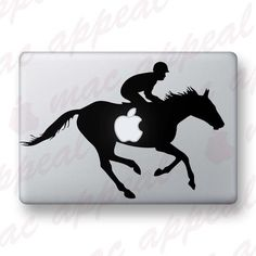 Horse and Rider decal for MacBook, Laptop  iPad.  Too cool for school!