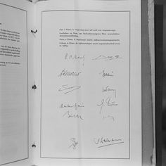 The signature of the Treaties of Rome by the governments of the six Member States, took place in the Hall of the Horatii and Curiatii at the Capitole in Rome. This treaty establishing the European Economic Community (EEC) and the European Atomic Energy Community (EAEC-EURATOM) envisaged in particular the setting up of a customs union and the creation of institutions: The European Commission, the Council of the European Union, the European Parliament and the Court of Justice. — in Rome… Treaty Of Rome, European Economic Community, European Integration, European Parliament, Rome Italy, Rome