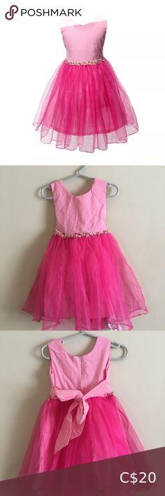W&M Girls Months Peach Pink Formal Dress ⭐️ Beautiful Formal Dress ⭐️ Peach/Pink ⭐️ Tie Back W&M Dresses Formal Pink Formal Dresses, Pink Ties, Plus Fashion, Fashion Tips, Fashion Trends, 18 Months, Tulle, Ballet Skirt, Peach