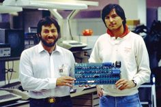 Steve Wozniak and Steve Jobs, 1983        40 years of Apple history in photos. ... 30  PHOTOS        ... Steve Jobs, Steve Wozniak, and Ronald Wayne co-founded 'Apple Computer' in California on April 1, 1976        Posted from:          http://softfern.com/NewsDtls.aspx?id=1081&catgry=2            #Apple Lisa computer, #Steve Wozniak, #iPhone, #MacBook Air, #Tim Cook, #Apple software TV, #Apple IIc, #Jeff Williams, #Apple Watch