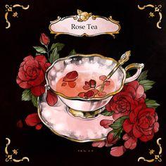 Thé Illustration, Food Illustrations, Kawaii Drawings, Cute Drawings, Anime Kunst, Anime Art, Tee Kunst, Cute Food Art, Food Sketch