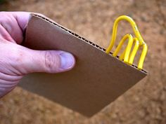 Tent stake hack with cardboard. Tried it, worked well storing my tent stakes. Hiking Tips, Camping And Hiking, Camping Survival, Camping Glamping, Camping Hacks, Outdoor Camping, Camping Store, Backpacking Gear, Camping Gear