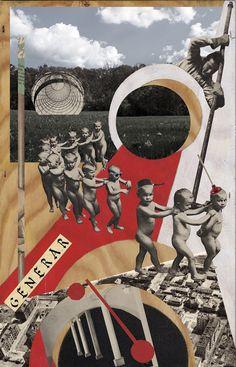Dark Art Drawings, Abstract Drawings, Art Pop, Dada Art Movement, Montage Art, Arte Latina, Frida Art, Magazine Collage, Art For Art Sake