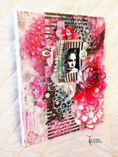 "Handmade by Yulianna: Коллаж ""Flower"" и мое первое видео!"