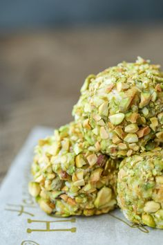 These Keto Pistachio Truffles boast a sweet vanilla mascarpone center! Easy & delicious, they make a perfect low carb fat bomb or dessert! Atkins friendly.