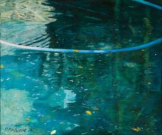 Danielle Malherbe Shadowy Pool Oil on canvas x Layer Paint, How To Make Paint, Oil On Canvas, Waves, Painting, Outdoor, Art, Outdoors, Art Background