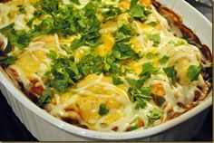 Enchilada Casserole from Cooking Light...Yum def. will pull out my magazine for this scrumptious lookin dish!
