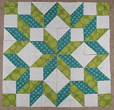 Carpenter's Star quilt hst