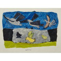 PITSEOLAK ASHOONA (1904-1983), E7-1100, CAPE DORSET BIRDS TAKING FLIGHT Inuit Art, Art Auction, Online Art, Art Decor, Cape, Birds, Artwork, Cabo, Work Of Art