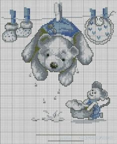 Embroidery and cross stitch patterns to complimentary: August 2013 Cross Stitch For Kids, Cute Cross Stitch, Cross Stitch Animals, Cross Stitch Charts, Cross Stitch Designs, Cross Stitch Patterns, Hand Embroidery Designs, Embroidery Patterns, Cross Stitching