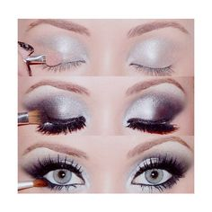 Makeup / Silver and black eyeshadow <3 found on Polyvore