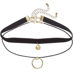 DOUBLE UP CHOKER PACK ($11) ❤ liked on Polyvore featuring jewelry, necklaces, accessories, chokers, fillers, clasp charms, charm jewelry, choker necklaces, charm necklace and choker jewelry