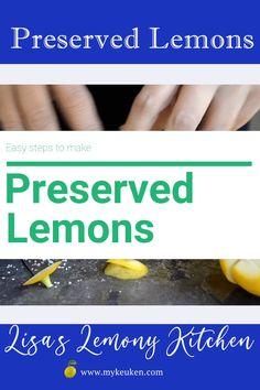 Easy steps on How to make Preserved Lemons.