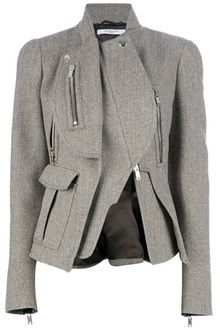 Givenchy asymmetric gray jacket