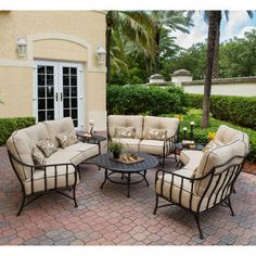 Cortez 6-piece Crescent Deep Seating Set with Coffee Table