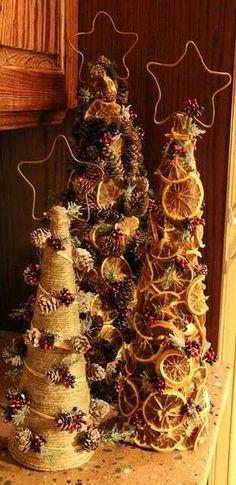 Cardboard cone Christmas tree