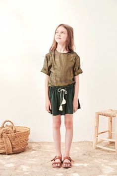 Bart Lurex Striped Blouse Polder Girl Teen Children- A large selection of Fashion on Smallable, the Family Concept Store - More than 600 brands. Toddler Fashion, Teen Fashion, Teen Skirts, Cute Toddlers, Kids Swimwear, Kid Styles, Short Girls, Short Sleeve Blouse, Bikinis