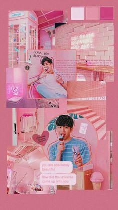 Couple Wallpaper, Pink Wallpaper, Free Instagram, Thai Drama, Doraemon, Gay Couple, Im In Love, Cute Wallpapers, Aesthetic Wallpapers