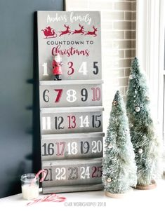 the Rainbow Christmas Tree year? christmas countdown shelf (ornament not included) Christmas Countdown, Christmas Signs, Rustic Christmas, Winter Christmas, Christmas Holidays, Christmas Decorations, Diy Christmas Advent Calendar, Wood Advent Calendar, Xmas Elf