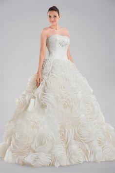 rosette wedding dress - Google Search