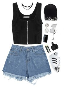 """""""July 15, 2017"""" by madelynn-gv on Polyvore featuring adidas, T By Alexander Wang, Gucci and Reebok"""