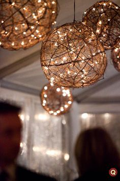 wedding lighting | Gloria white wedding with touches of willow browns. | Q blog | Wedding ...