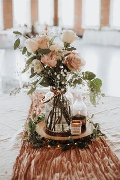 dusty rose wedding centerpiece ideas wedding table decor 25 Trending Dusty Rose and Sage Wedding Color Ideas - Page 2 of 2 - Oh Best Day Ever Country Wedding Centerpieces, Rose Centerpieces, Wedding Flower Arrangements, Wedding Decorations, Centerpiece Ideas, Wedding Ideas, Quinceanera Centerpieces, Wedding Trends, Vintage Centerpiece Wedding